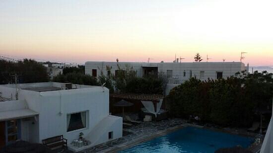 Aeolos Mykonos Hotel: jacuzzi al tramonto: si efekaristo!