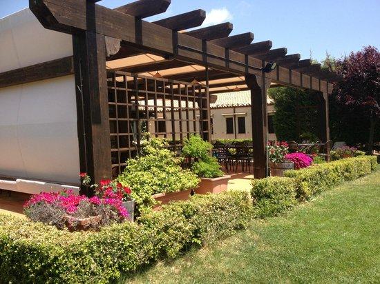 Agriturismo Terravecchia : vista laterale gazebo e giardino