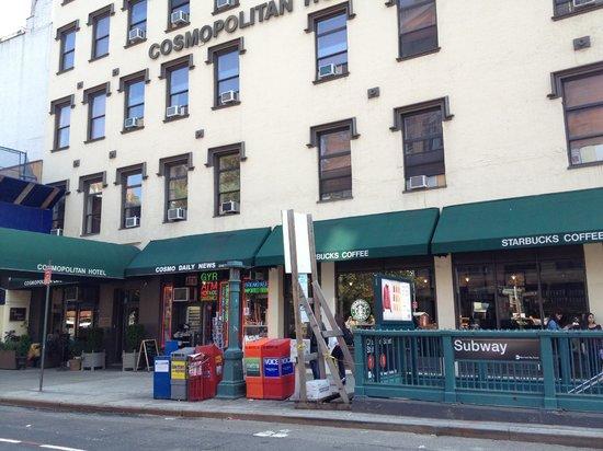 Cosmopolitan Hotel - Tribeca: estação de metro na frente