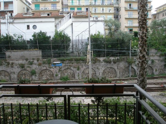 Carrani Tours: View at Hotel of train tracks