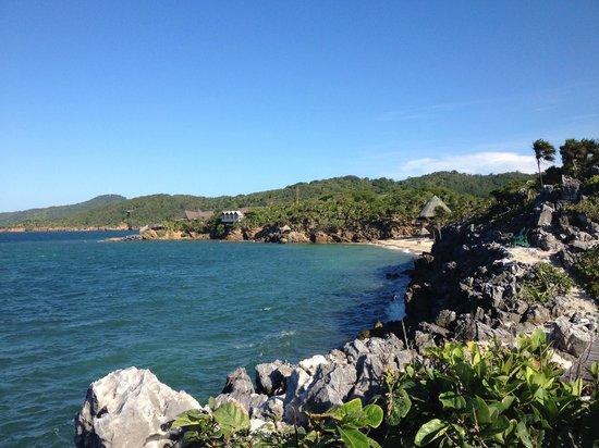 Paya Bay Resort : looking east to the hotel