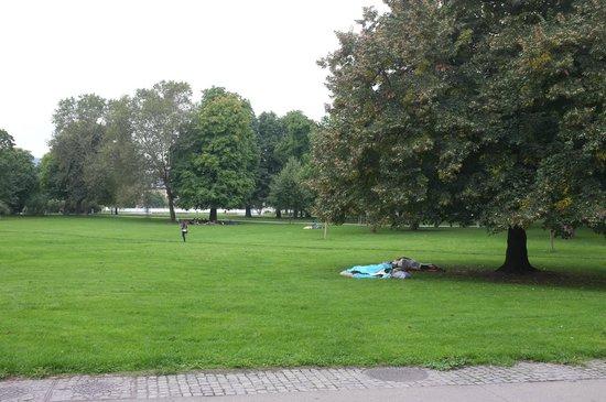 Schlossgarten: Obdachlose
