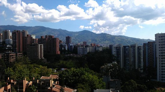 Hotel Poblado Alejandria: View from the roof terrace.