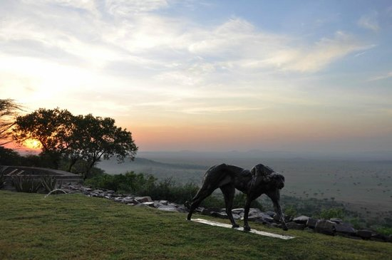 Singita Sasakwa Lodge: Sunrise on the top