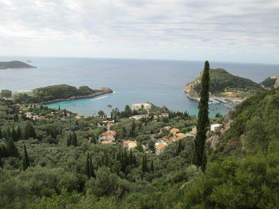 Paleokastritsa Beach : View from the mountains