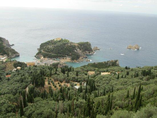 Paleokastritsa Beach: View from the mountains