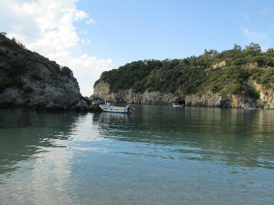 Paleokastritsa Beach: View from the main beach