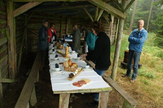 L'Ancien Hopital: Ons ontbijt in de bossen van Saint-Hubert