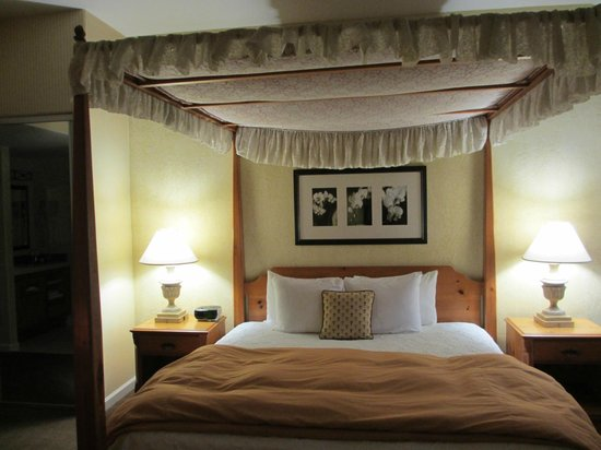 FogCatcher Inn: Canopy bed
