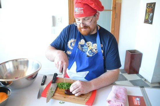 Chilean Cuisine Cooking Classes: My husband cooking Chilean food