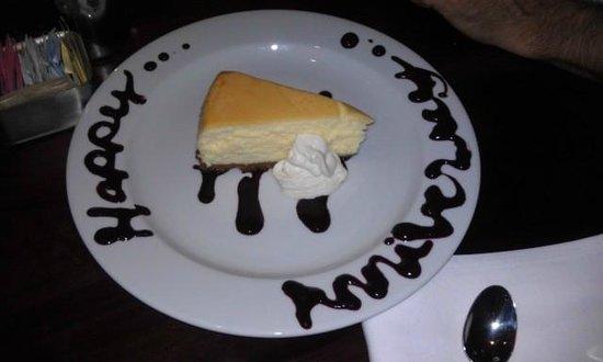 Django Restaurant: Blueberry Marscapone Cheesecake