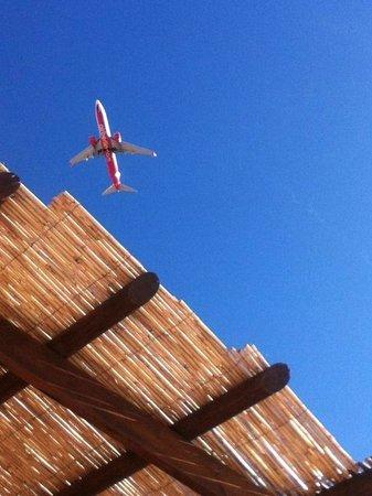 Club Caleta Dorada: Flight Path over pool
