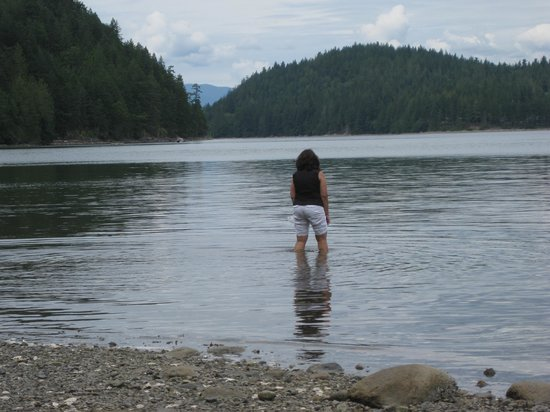 Okeover Arm Provincial Park: Looking for oysters.