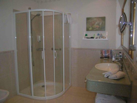 Pienzenau am Schlosspark: Badezimmer mit Dousche