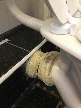 Abbott Lodge: scarico bagno perdente acqua