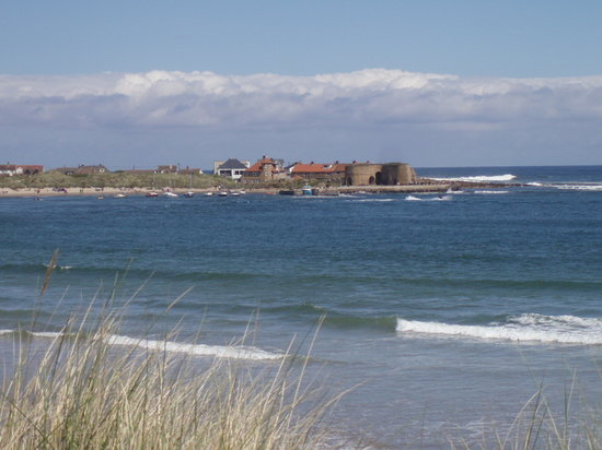 View across Beadnell Bay to Beadnell Beach Guesthouse
