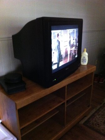 The Resort at Schlitterbahn: Old Model TV at Resort