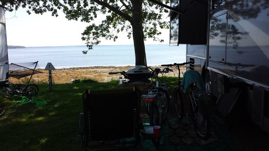 Searsport Shores Oceanfront Campground : this was our camp site tfor the 2013 summer vacation.