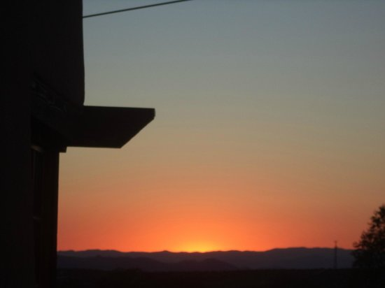 The Hacienda and Spa at Hotel Santa Fe: Sunset from roof terrace