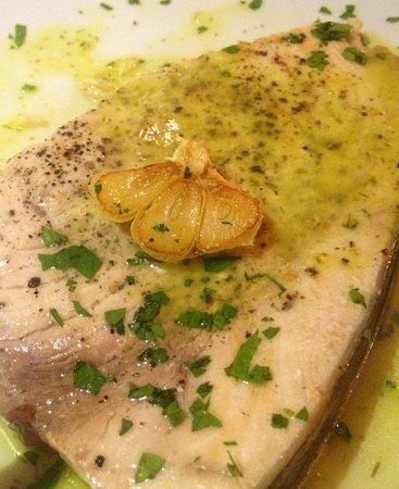 Restaurant Avli: Schwertfischfilet mit Deko