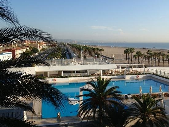 Hotel Las Arenas Balneario Resort: view from the room (this was not a seaside room!)