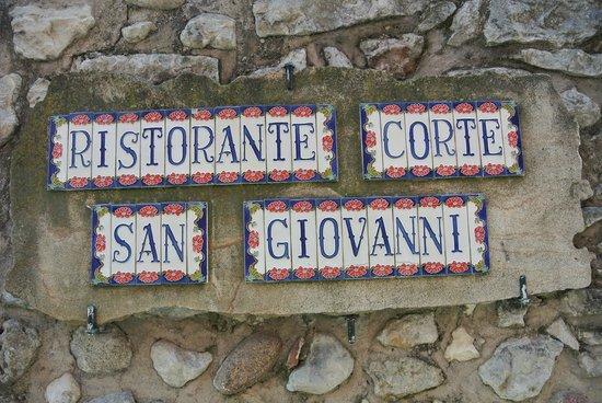 Corte San Giovanni: De naam van het restaurant