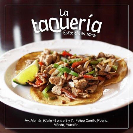 La Taqueria: La Taquería le sugiere probar nuestros ricos tacos de alambre.