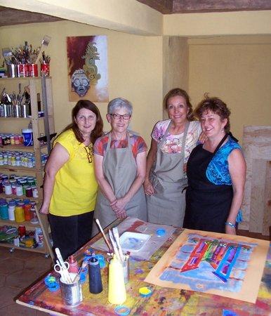 Cristi Fer Art Gallery and Workshops: Cristi with The California Girls Sept. 2013