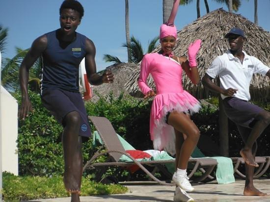 Secrets Royal Beach Punta Cana: our daily entertaiment team; Mozart, Karen, and Milky Way