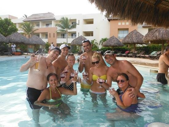 Secrets Royal Beach Punta Cana: just some of the wonderful NEW friends we met cheers to Mama Juanas!