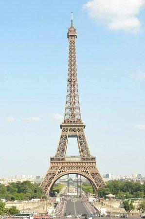 Trocadero: Mi primer vista a la Torre