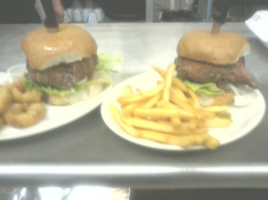 West Texas Woodfire Grill: Famous Bur-popper-ger!! How exciting!