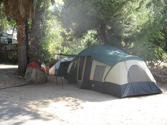 Rancho Los Coches RV Park : Tent camping is available at our resort.