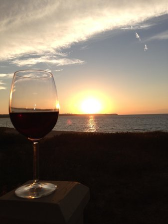 The Homestead: Wine and sunset