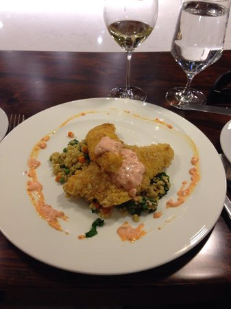 Entertaining Elements: Hickory stick crusted perch with barley risotto