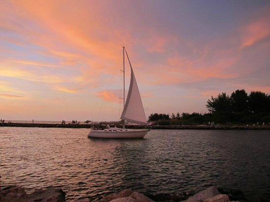Humphris Park: Sail Boat at Sunset