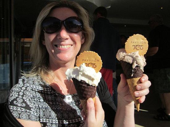 Pavilion Ice Luxury Hand Made Cornish Ice Cream Parlour: Go on spoil yourself.