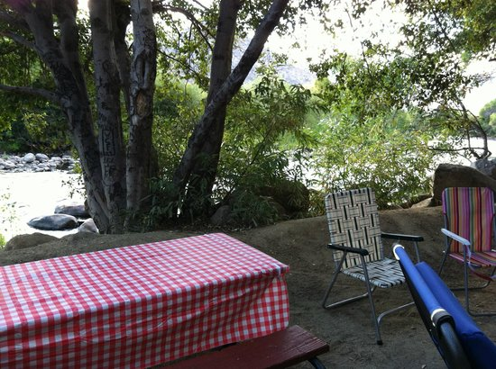 Camp James Campground : View from our dining table of the Kern River