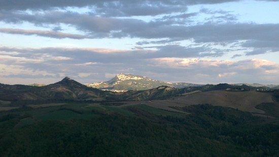 Ca' Poggio: view of San Marino