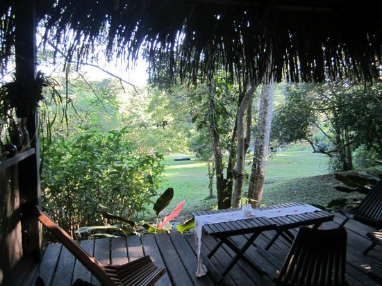 Parrot Nest Lodge: View from the dining room
