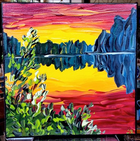 Fiddlehead at Four Corners: Acrylic paintings
