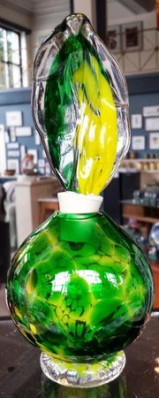 Fiddlehead at Four Corners: Glass perfume bottles