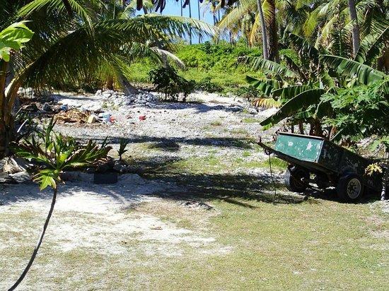 Pearl Havaiki: Poubelles (vue de la terrasse de notre bungalow jardin)
