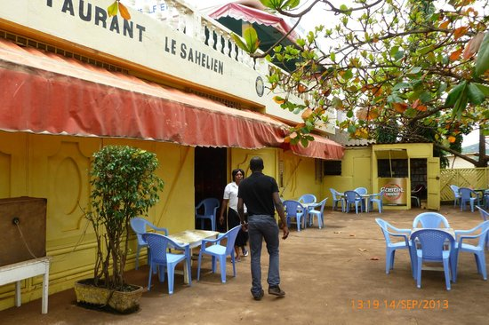 Atakpame, Togo: Ground floor bar area