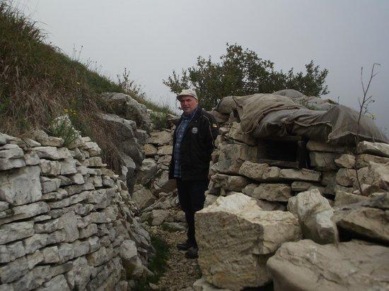 Monte Grappa: Trincheiras