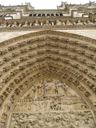 มหาวิหารน็อทร์-ดาม: Catedral de Notre-Dame - detalhes da fachada