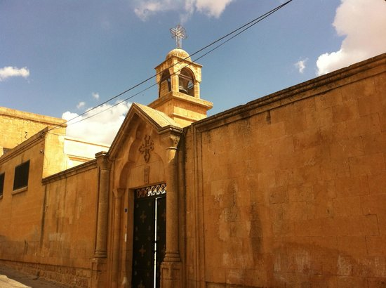 Midyat Old City: The entrance to church at Midyat