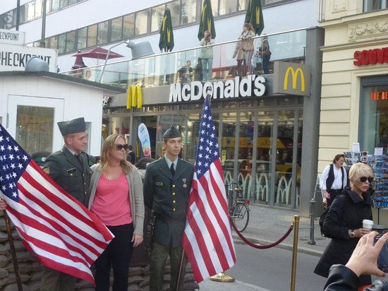 Photo of Checkpoint Charlie today