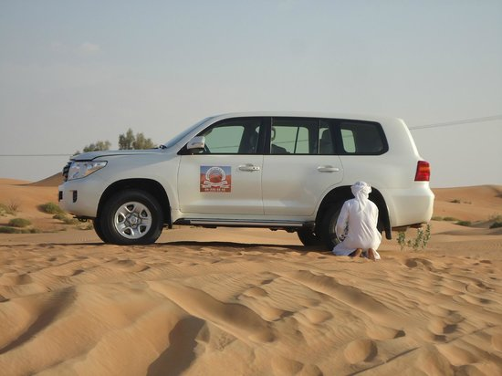 Arabian Team Adventures: about to start dune bashing