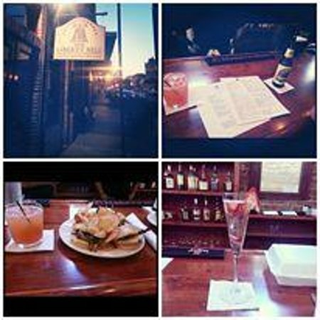 The Liberty Bell: A guest's collage with outside photo, food and drink pics.